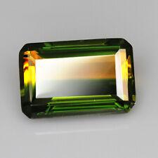 12.35Ct Man Made Bi Color Glass Yellow Green Oval Cut MQYG25