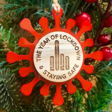 Personalised Christmas Tree Decoration Bauble 2020 Lockdown Family Gift Ornament