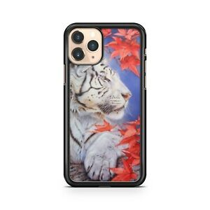 Majestic Tiger Animal Luscious Red Lovely Ravishing Leaves Fine Phone Case Cover