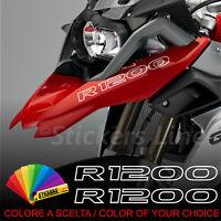 Adesivi BMW R1200 GS 13 -17 LC 2 scritte adesive Becco Anteriore - Scelta Colore