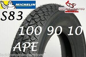 COPERTONE GOMMA 100 90 10 MICHELIN S83 PIAGGIO APE 50 PNEUMATICO