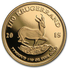 2015 South Africa 1/10 oz Proof Gold Krugerrand - SKU #97943