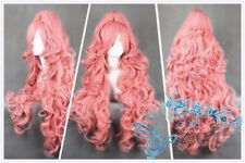 For Cosplay 90cm VOCALOID Megurine Luka Ruka PINK Anime Party Event Wig+Ponytail