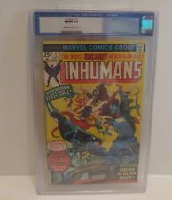 Inhumans #1 - CGC 9.8  1975 Marvel Comics - WHT Pages Key Book Highest Grade