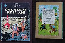 Tintin - On a Marché sur la Lune - B40 1973 - Hergé - Casterman BE général