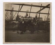 PHOTO ANCIENNE Brazil 1918 A bord du Samara en partance pour le Brésil Navire