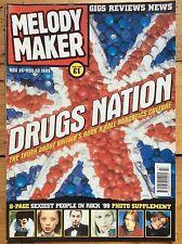 Melody Maker 24/11/1999 Drugs Nation cover, Blink 182