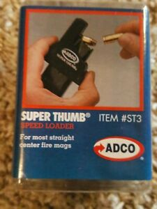 ADCO ST3 Black Super Thumb Magazine Loader for Sig,COLT-1911,S&W,RUGAR,SPRGFLD