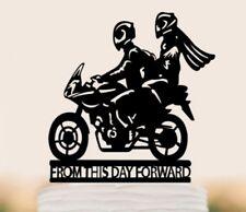 Caketopper Tortennfigur Neu  Motorrad  Bike Brautkleid  Mr Mrs Hochzeit  Deko