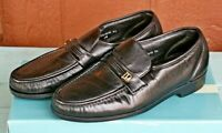 Florsheim Black Riva Leather Loafers Shoes Mens Size 9.5 D Slip On Comfortech