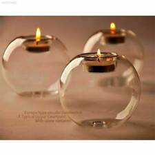 Crystal Glass Round Candle Tea Light Holder Candlestick Xmas Party Home Decor