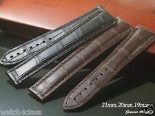 Genuine Alligator skin Band Strap bracelet (FITS) OMEGA 21mm 20mm 19mm x16mm