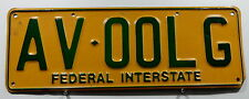 "Nummernschild Australien ACT ""FEDERAL INTERSTATE"". 4387."