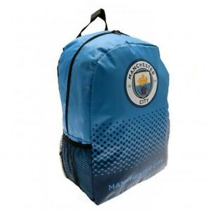 Manchester City Backpack Blue Official Merchandise Kids School Bag Rucksack MCFC