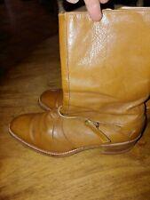 Men's VINTAGE Florsheim leather boots size 7.5 wooden sole