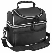 Insulated Cooler Lunch Thermos Bag Travel Men Women Bento Lunch Box Tote Black