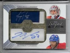 11-12 UD THE CUP DUAL SCRIPTED AUTOGRAPH PATCH CAREY PRICE P.K. SUBBAN AUTO 1/15