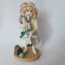Jan Hagara Porcelain Figurine CATHY 1989 Signed Numbered VICTORIAN GIRL w/ DOLL