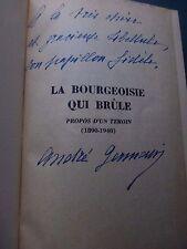 André Germain La Bourgeoisie qui brûle Propos d'un témoin Gotha 1890-1940 Envoi