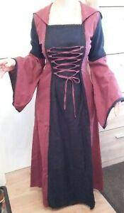 Mittelalter Kleid mit Kapuze Gr. 38