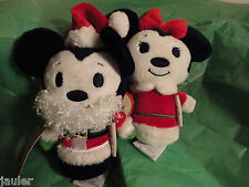 MICKEY MINNIE MOUSE Santa Claus Limited Edition Hallmark Itty Bittys  NEW LE
