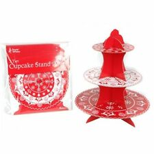 Red Cake & Cupcake Stands