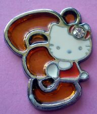 Hello Kitty orange Bobtail Chat Charme Sanrio émail collier pendentif bracelet