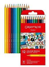 """Crayons de couleur """"Caran d'Ache""""  - Etui de 12"""