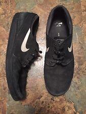 Nike SB Stefan Janoski Lunarlon Skate Shoe Mens Size 12 Black White