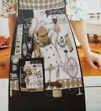 """Twill Fabric Kitchen Apron with pocket, 20""""x 30"""", Fat Chef With Wine Glass, Asm"""