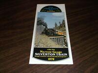 1979 SILVERTON NARROW GAUGE TRAIN TIMETABLE FORMER RIO GRANDE D&RGW
