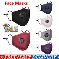 5x Reusable PM2.5 Air Pollution Face Mask Respirator With 10* Filters Washable