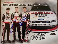 Joey Logano Brad Keselowski Ryan Blaney Signed Autographed Hero Card