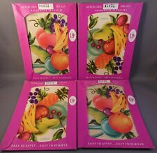 4 Vintage Meyercord Decals Fruit Bunches 2 Of Each X107B X107C