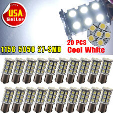 20 X 7000K White 1156 27 SMD RV Camper Trailer LED Interior Light Bulbs 1073 12V
