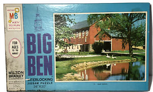 "VINTAGE 1960's MILTON BRADLEY BIG BEN 1000 PIECE JIGSAW PUZZLE 26""X20"" UNOPENED!"