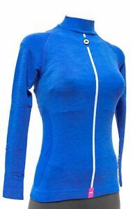 Assos ULTRAZ Winter Long Slv Skin Base Layer Women Size 1 Blue Road Bike Cycling