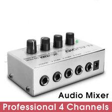 Mini MX400 Micro Digital Audio Mixer 4 Canaux Mixeur DJ Portable Plug T4S2 12V