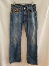 True Religion Jeans Size 32, inseam 33 Boot Cut 5 pocket distressed
