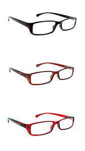2 Pairs Slimline Spring Hinged Reading Glasses Mens Womans Retro Fashion TN04