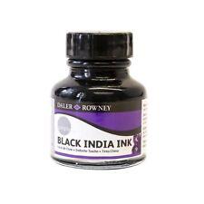 Daler Rowney Black Indian Ink 29.5ml Pot