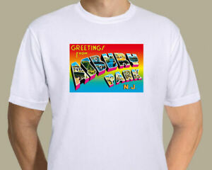 Bruce Springsteen - Greetings From Asbury Park postcard on T-shirt