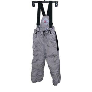 Alpine Design - Boys Size 6 Gray Ski Snowboard Pants Bib Lengthened Hem