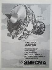 11/1977 PUB SNECMA GENERAL ELECTRIC CFM56 ENGINE MOTEUR AVIATION ORIGINAL AD