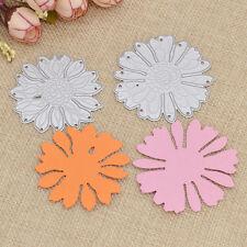 2 Pcs DIY Flower Metal Cutting Dies Scrapbooking Paper Cards Making Stencils