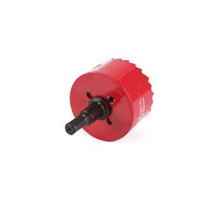 60-80mm BI Metal Hole Saw Holesaw Cutter Cut Arbor Pilot Drill Bit Plastic M42