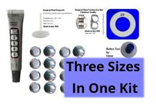 Stainless Steel Studs 15mm 19mm 23mm 3 Size Button Earring Sampler Kit