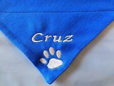 Personalised  Dog Bandana, Slide on Collar  ANY NAME Ideal Gift, 5 Sizes