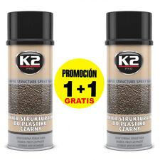 x2 Spray Pintura para plástico negro / Parachoques o piezas de plásticos 400ml