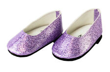 """Purple Sparkle Slip On Shoes for 18"""" American Girl Doll Clothes"""